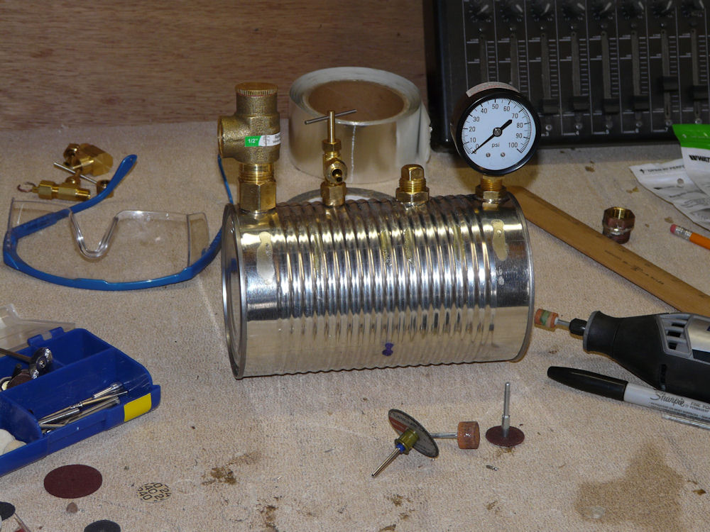 tin can steam boiler martinsant net - Homemade Steam Generator Plans